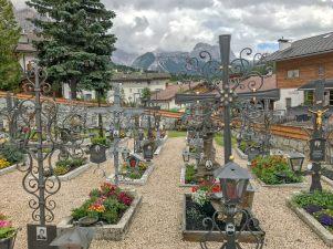 San Cassiano cemetary crosses