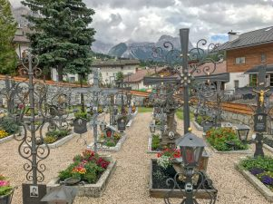 San Cassiano cemetary crosses
