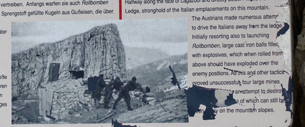 All along this steep range, the Austrians had a network of firing positions to lob on the Italians below.