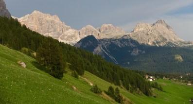 San Cassiano moutain range view