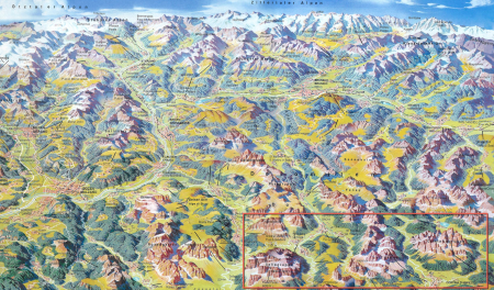 You can see how the Val Badia is just a fraction of the great Dolomites. The lower righthand corner.