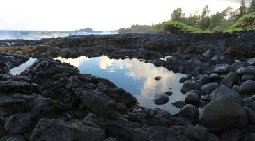 Travaasa Hana lava reflection