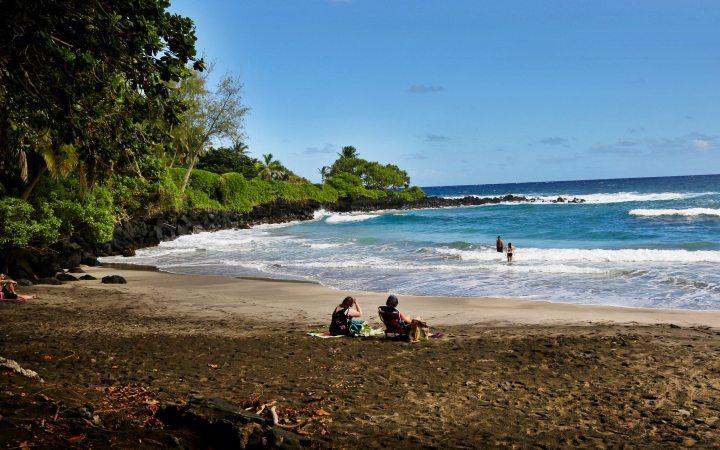 Hamoa Beach people