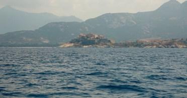 Calvi citadel from water