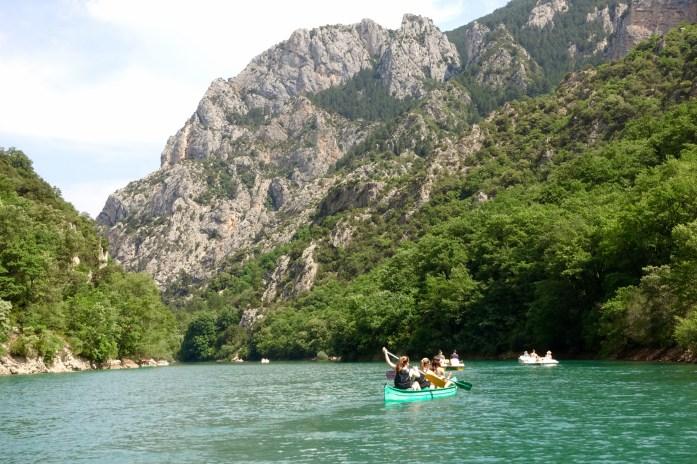 Gorge du Verdon canoes