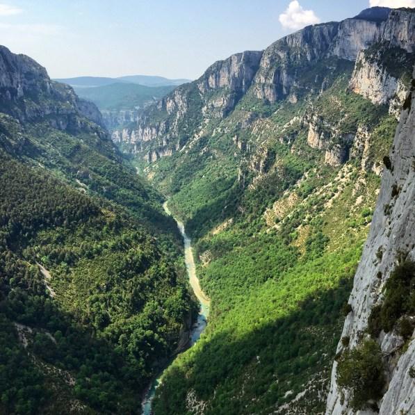 Gorge du Verdon narrow canyon