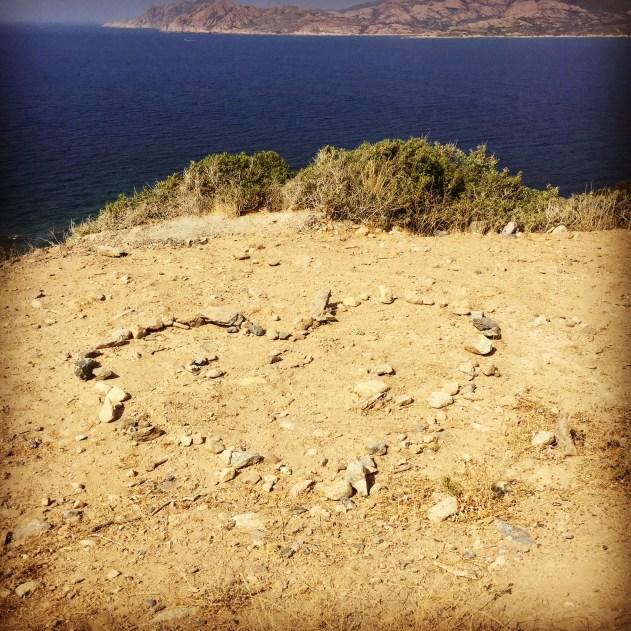Corsica love rocks
