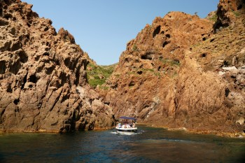 Scandola Nature Reserve boat canyon