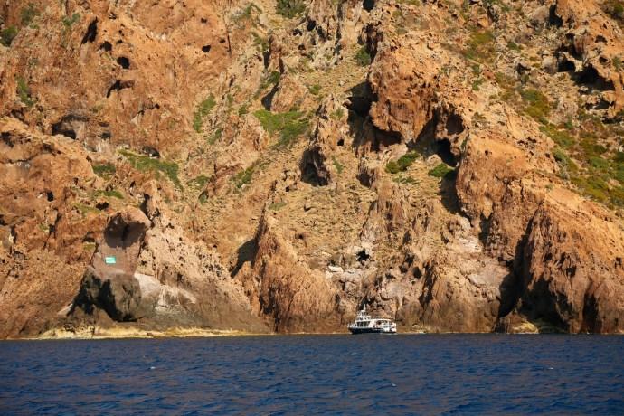 Scandola Nature Preserve small tour boat