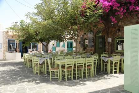 Folegandros restaurant chairs