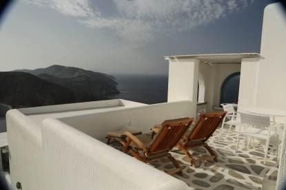 Anemomilos Apartments terrace sunset