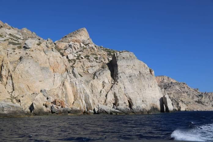 Folegandros southern coast