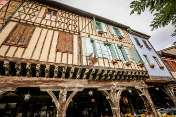 Mirepoix Languedoc wood buildings