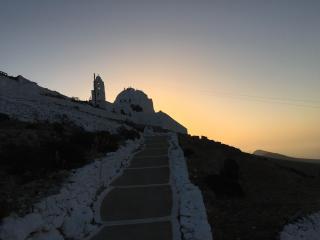 Church of Panagia in Chora, Folegandros sunrise