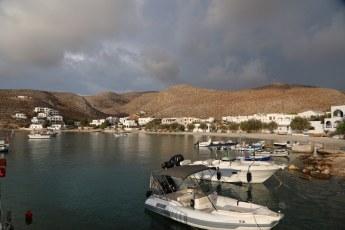 Folegandros boats in port