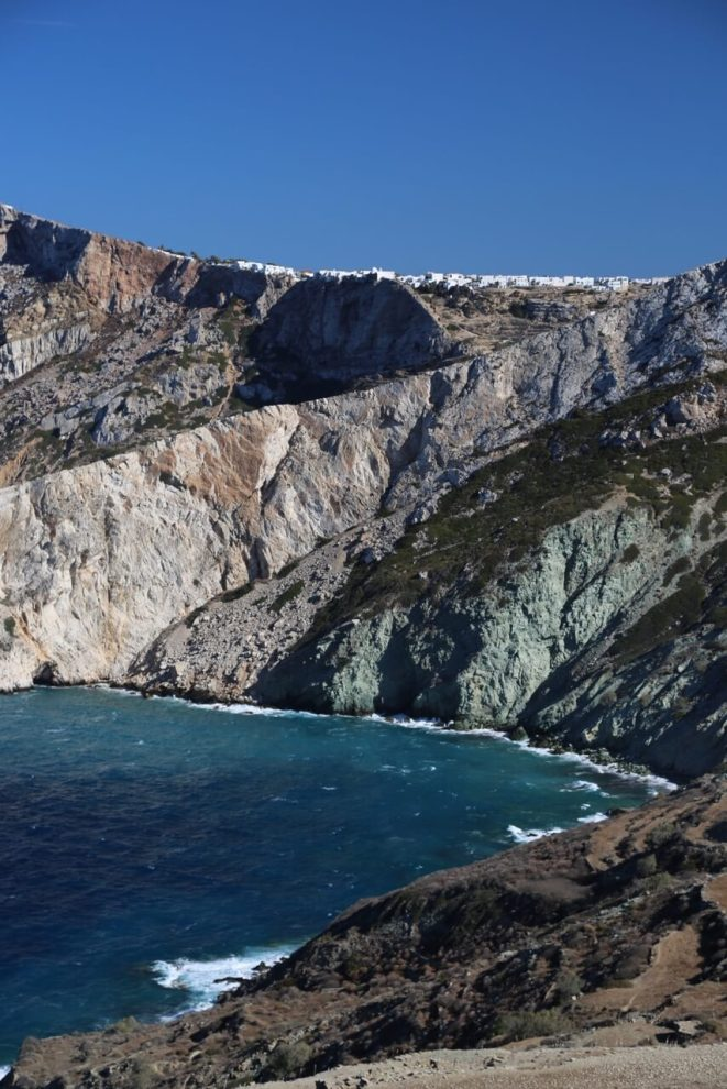 Chore Folegandros on the hill