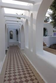 Casa Arte tiled walkway