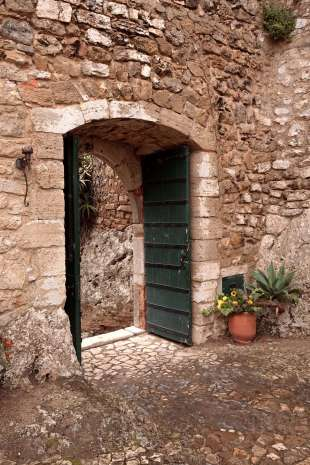 Obidos castle doorway