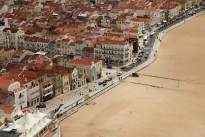 Nazaré city view