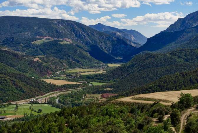 Views of N260 Catalan Pyrenees