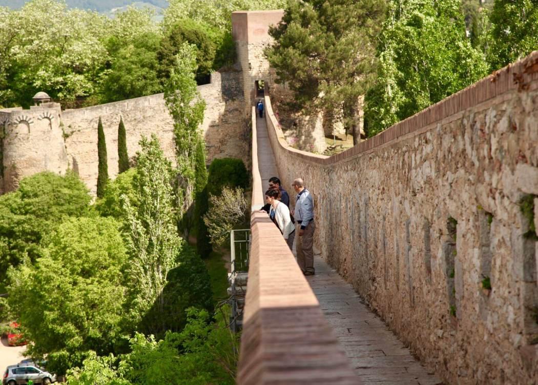 Girona castle wall