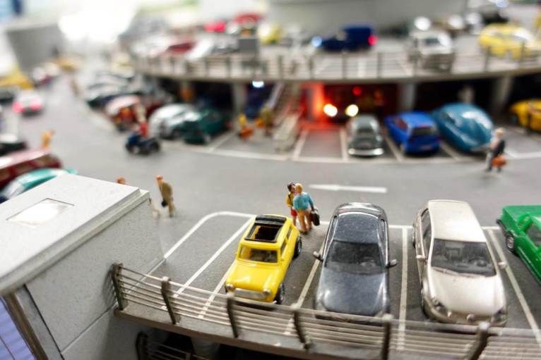 Miniatur Wunderland parking lot cars
