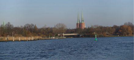 Lübeck boat tour church steeples
