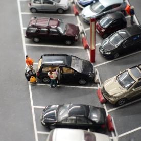 Miniatur Wunderland parking lot detail