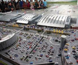 Miniatur Wunderland Hamburg airport parking lot
