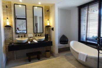 Ample bathroom.