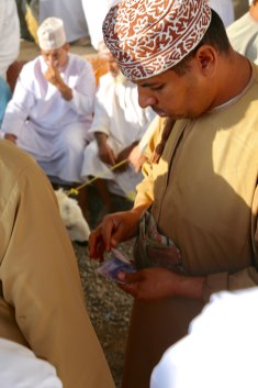 Nizwa Goat market transaction