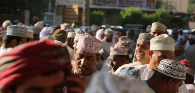 Nizwa goat market people