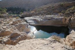 Wadi Bani Khalid upper pools