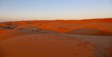 Wahiba Sands sunset shadows