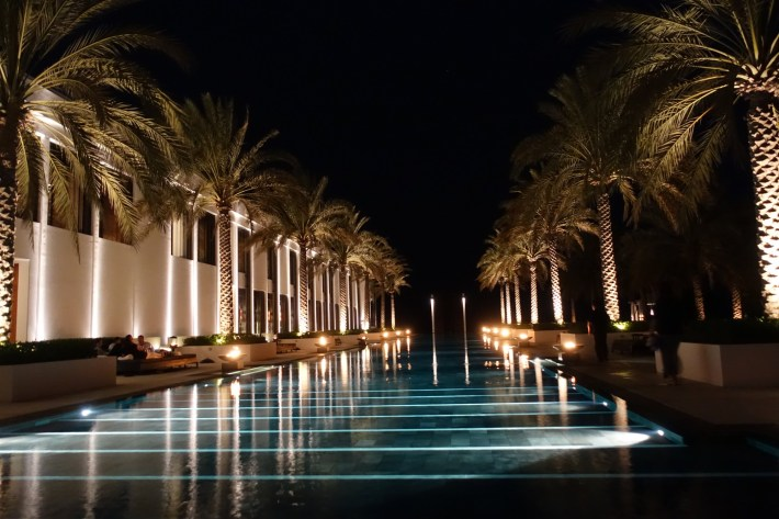 Same pool, entirely different look and feel at night. It like doubles the value of what you are paying for. Why don't more hotels get that?