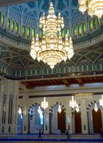 Sultan Qaboos Mosque chandelier