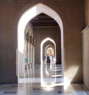 Sultan Qaboos mosque hallway