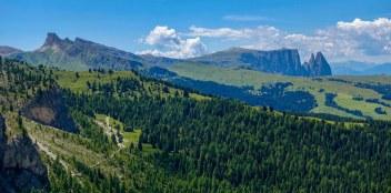 Sassolungo views down Val Gardena