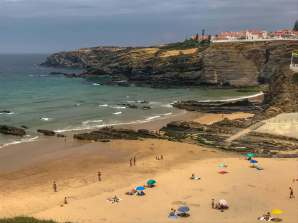 The main beach of Zambujeira do Mar is right at the foot of the pretty town. It's a nice beach and walkable. But we liked this next beach around the corner much better...