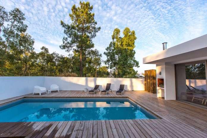 Brejos Villa Comporta pool with trees