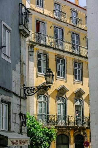Lisbon faded buildings