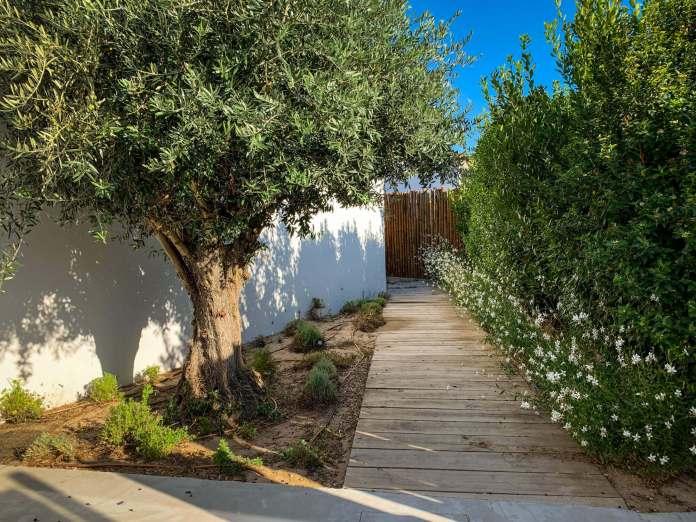 Brejos Villa courtyard