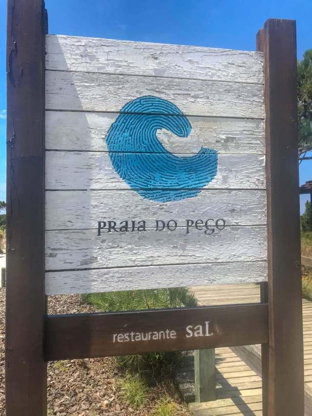 Pego Beach sign Comporta