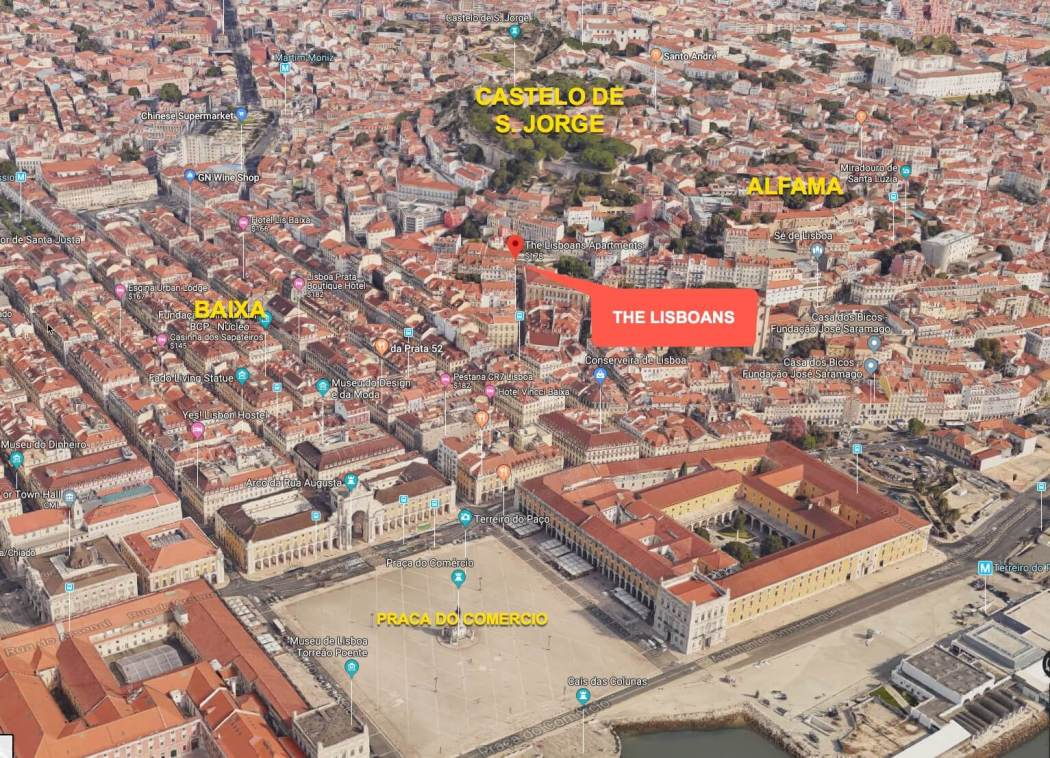 The Lisboans Apartments location