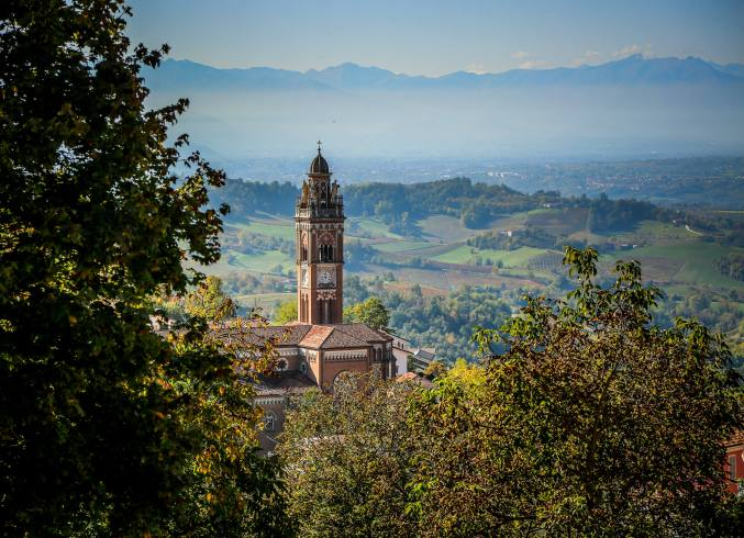 Monforte d'Alba steeple view