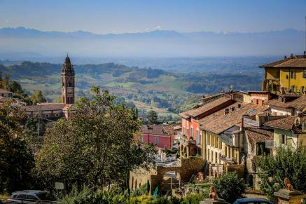 view from Monforte d'Alba