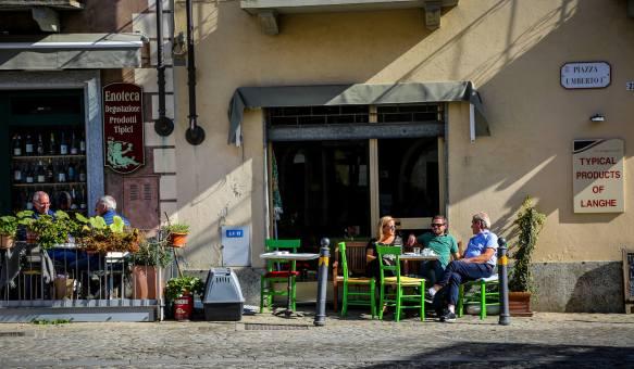Monforte d'Alba wine terrace