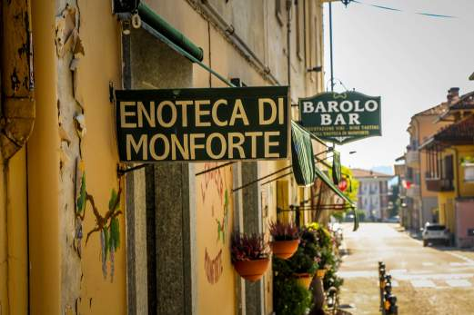 Barolo Bar sign Monforte d'Alba