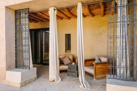 Dar Ahlam suite outdoor seating area