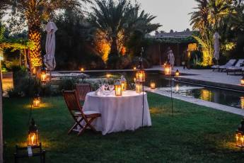 Dar Ahlam candles and pool